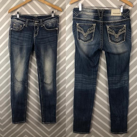 7567af784cc Vigoss Jeans | Chelsea Skinny Embellished Pockets | Poshmark